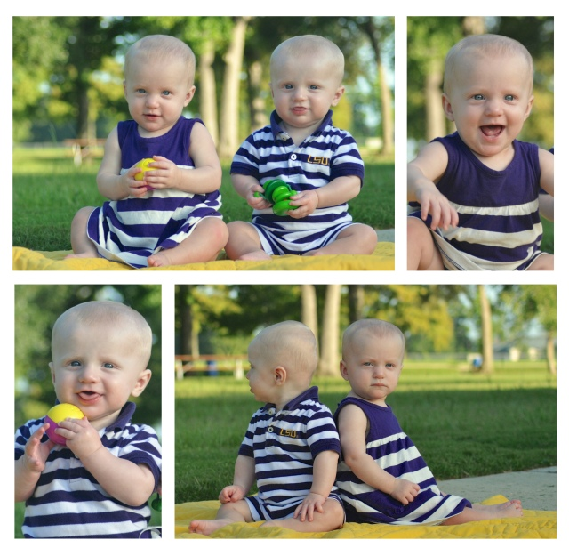 Twin 8 month 2