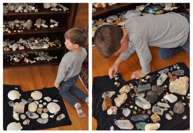 Patrick and the rock collection